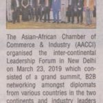 Asian African Leadership Forum to Recognize Business Leaders at Delhi